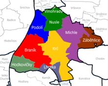 mapa praha4
